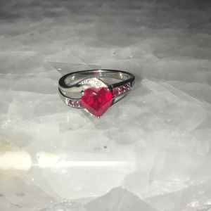 Kay Jewelers Red Heart Ring